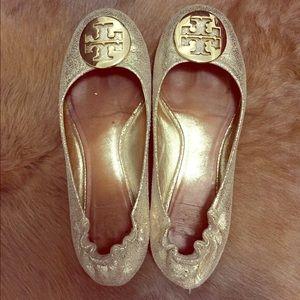 Tory Burch Gold Reva ballet flats - 8.5